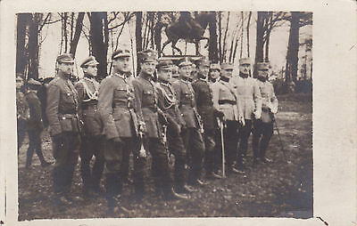 Extremly Rare Poland (Polish) And Romania Officers In Uniforms Wwi 1918 Photo