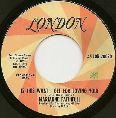 """Marianne Faithfull """"is This What I Get For Loving You!"""" U.s. London Demo (1967)"""
