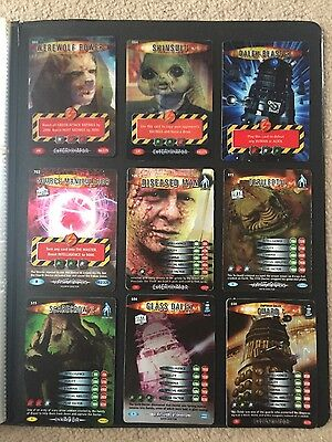 rare shiny doctor who battle in time cards