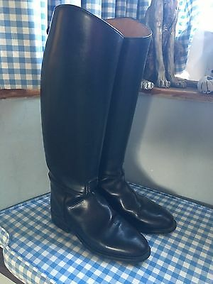 cavallo black leather riding boots size 5 1/2  38