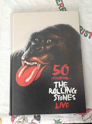 Rolling Stones 50 & Counting Tour Program hard cover book