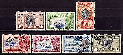 Cayman Islands Stamps. KGV 1935 Issues. SG96-102. Used. #2505
