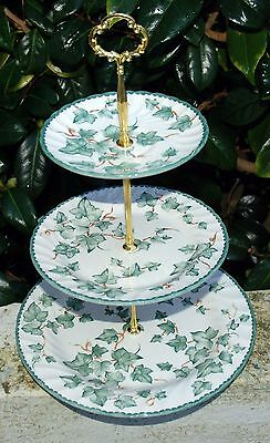 BHS  Trailing Ivy Leaf 3 Tier Cakestand Traditional plate dimensions.