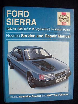 Haynes Workshop Manual Ford Sierra Sapphire 82-93 Petrol Inc P100 SOHC DOHC CVH
