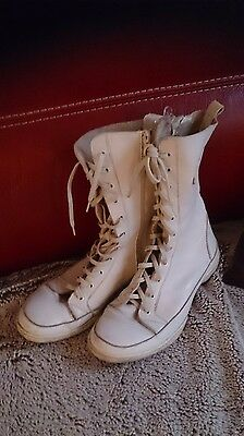 bottes blanches tout cuir 39