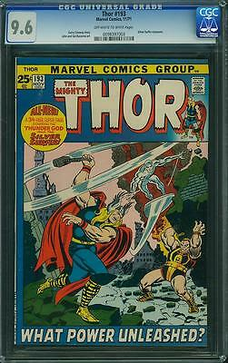 THOR #193 (1971) CGC 9.6  Silver Surfer crossover!!