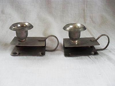 Vintage Pair of Candle and Matchbox holders