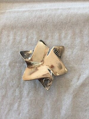 Vintage Sterling  Silver Star of David Pendant Jewish