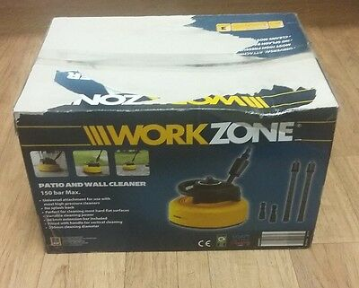 WorkZone Patio and Wall Cleaner Garden Jet Wash Clean Cleaning Water Gardening
