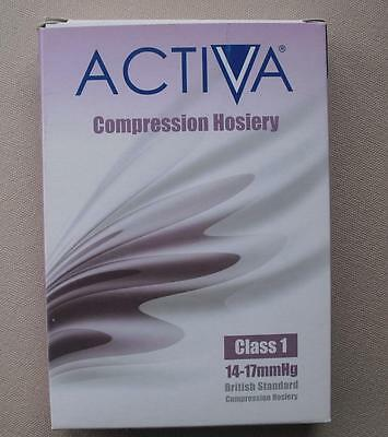 ACTIVA Class 1 Compression Hosiery LARGE L BLACK BELOW KNEE CLOSED TOE 278-2399
