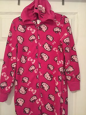 Little Girls Pink Hello Kitty Onesie 7-8 Years