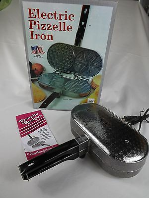 Palmer Electric Pizzelle Iron Model 1000 Gently Used W/ Box & Manual Made in USA