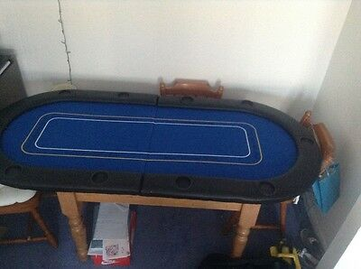 Fold up table top poker table