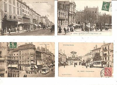 lot de 4 cartes postales animées de nancy