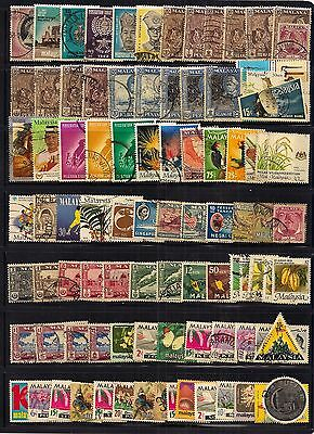 Malayasia / States - Selection Of 92 Fine Used Stamps.from Many States.very Good