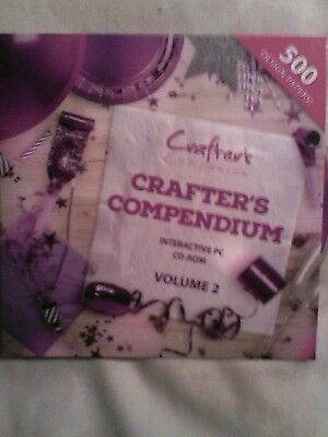 Crafters Companion Cd Rom - Backing Papers -NEW