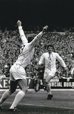 MICK JONES EDDIE GRAY Signed Photo LEEDS UNITED Autograph Memorabilia