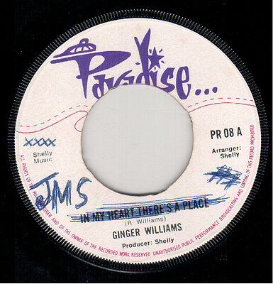 Ginger Williams - In My Heart There's A Place- Paradise UK Reggae Single