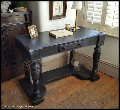 Beautiful Antique Painted Shabby Chic Console Table Desk
