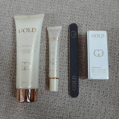 Gold Elements Kit - Hand Cream, Buffing Block, Cuticle Oil & Nail File - RRP £29