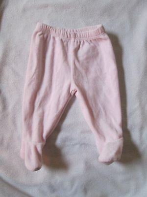 Mothercare pink baby girl's trousers with feet, 0-3 months,