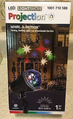 STAR Lightshow Projection Whirl-A-Motion LED Lights Christmas House Decor DJ