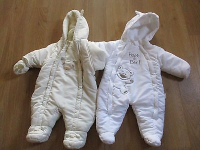 Baby all in one coat size 0-6 months x 2