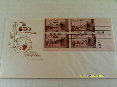 FDC House of Farnam #944 plate block of 4 unaddressed