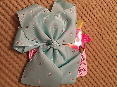NEW IN JOJO Siwa Large Pearl Turquoise Signature Hair Bow ...100% Genuine