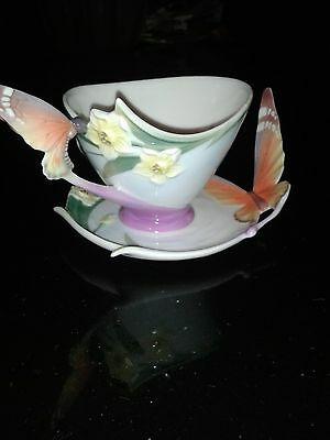 Franz Butterly Cup and Saucer  Item  XP1693 BNIB