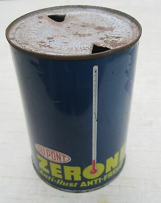 Vintage Advertising Dupont Zerone Anti-Rust Anti-Freeze One Quart Can,