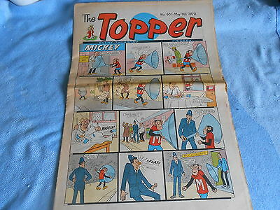 Vintage CLASSIC UK COMIC - TOPPER - May 1970