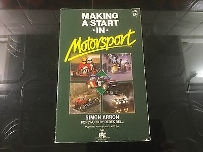 Making a Start in Motor Sport by Simon Arron (Paperback, 1989)