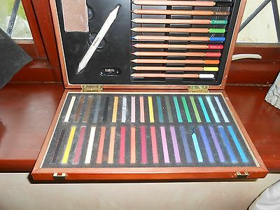 w h smith chalk and pastel set in box see details