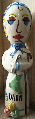 Adrian Pottery Ceramic Darning Egg Doll Collectors Ideal Gift for Seamstress