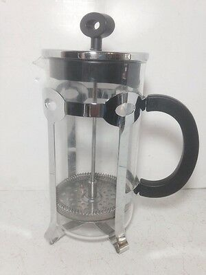 Bodum Glass French Press Coffee 8 Cup Maker 34 oz. Stainless Steel Frame