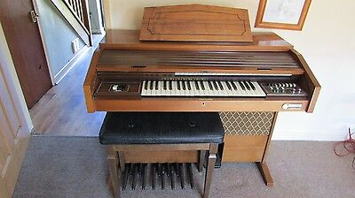A Gem F20 Electric Organ And Stool