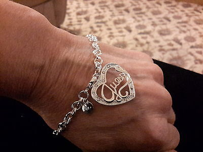 Brand new Silver plated 925 stamped heart guess  Bracelet and gift box