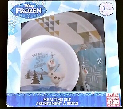 Disney Frozen - 3 Piece Mealtime Set - Olaf -Boxed - New