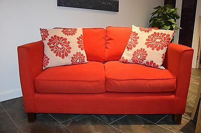 "Red 3 seater Cargo ""Zoe"" sofa"
