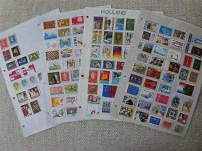 Nederland collection of 144 stamps on 4 pages