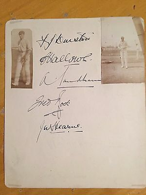 1926 the Rest signed x 5 & 2photos & verso Kent CCC 1926 x12 Root Sandham Hearne