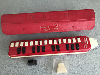 Vintage Hohner Melodica Alto Red 1970s