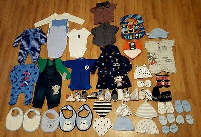 baby boys clothes bundle 0-3 3-6 months ALL NEW some with tags sleepsuits vest