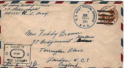 United States:WWII:5 'U.S.ARMY POSTAL SERVICE',Some Censored Covers