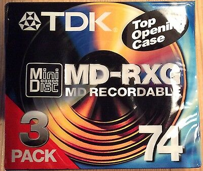 TDK Mini Disk MD-RXG Recordable x 3 pack, New/Sealed
