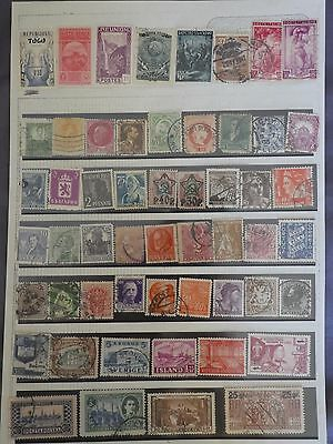 Older collection of 54 World stamps