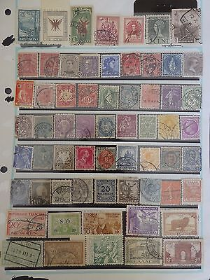 Older collection of 62 World stamps