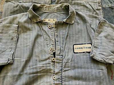 1940`s Herringbone Goodyear  Denim Engineered Work Garments Coveralls Size 44