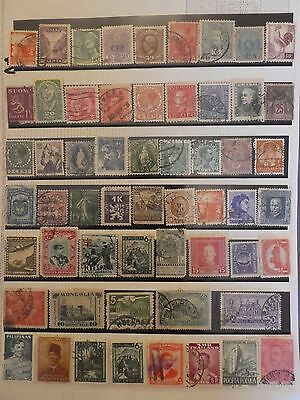 Older collection of 57 World stamps